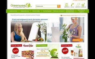 Greenweez Webseiten Screenshot