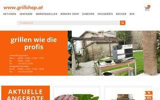 Grillshop.at Webseiten Screenshot