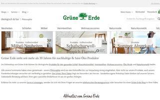 Grüne Erde Webseiten Screenshot
