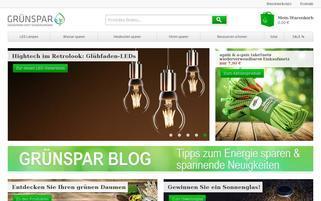gruenspar.at Webseiten Screenshot