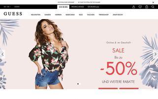 guess.com Webseiten Screenshot