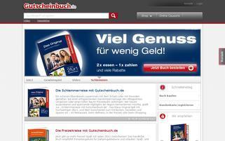 Gutscheinbuch Webseiten Screenshot
