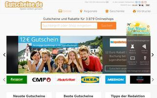 gutscheine.de Webseiten Screenshot