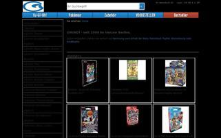 Gwindi Merchandising Webseiten Screenshot