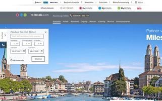 H-Hotels Webseiten Screenshot