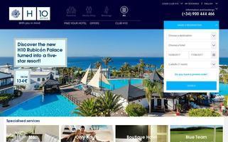 H10 Hotels Webseiten Screenshot