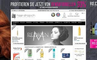 Haar-Shop Webseiten Screenshot