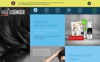 haarduenger.de Webseiten Screenshot