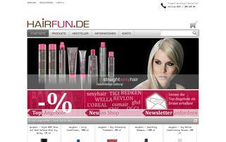 hairfun.de Webseiten Screenshot