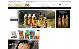 Hairshop24 Webseiten Screenshot