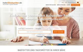 Hallobabysitter Webseiten Screenshot
