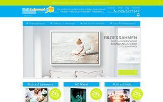 HalloLeinwand Webseiten Screenshot