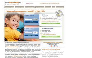 hallonachhilfe.de Webseiten Screenshot