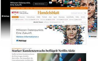 Handelsblatt Webseiten Screenshot