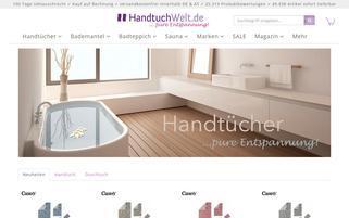 Handtuchwelt Webseiten Screenshot