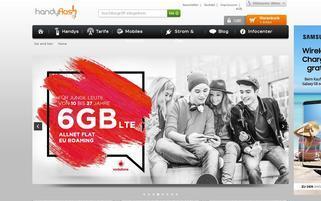 Handyflash Webseiten Screenshot
