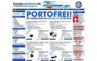 Handyzubehör Webseiten Screenshot