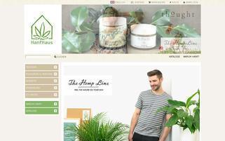 HanfHaus Webseiten Screenshot