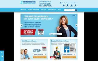 Hannoversche Leben Webseiten Screenshot