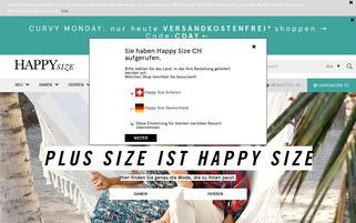 Happy Size.ch Webseiten Screenshot