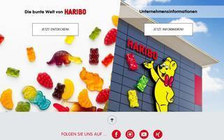 Haribo Webseiten Screenshot