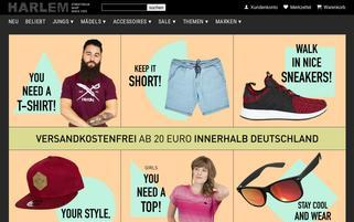 Harlem Stores Webseiten Screenshot