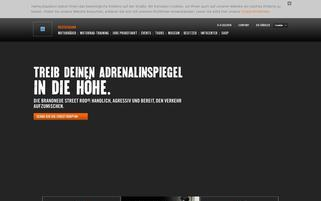 Harley Davidson Webseiten Screenshot