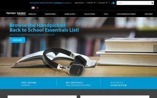 Harman Kardon Webseiten Screenshot