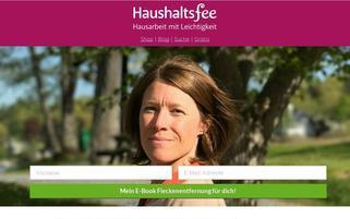 Haushaltsfee Webseiten Screenshot