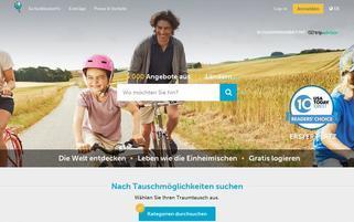 Haustauschferien Webseiten Screenshot