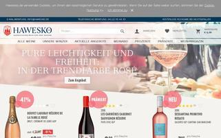 Hawesko Webseiten Screenshot
