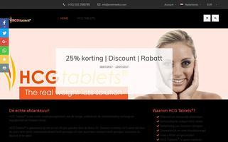 HCG Tablets Webseiten Screenshot