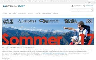 Hegenloh Sport Webseiten Screenshot