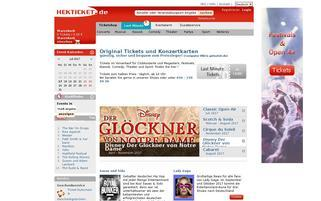 Hekticket Webseiten Screenshot
