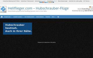 Heliflieger Webseiten Screenshot