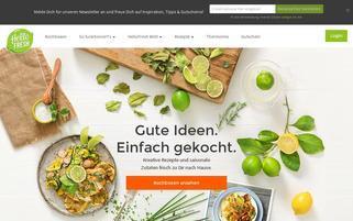 HelloFresh Österreich Webseiten Screenshot