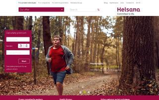 Helsana Webseiten Screenshot