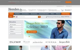 Hemden.de Webseiten Screenshot