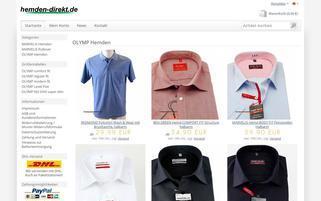 hemden-direkt Webseiten Screenshot