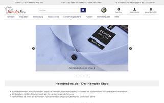 HemdenBox Webseiten Screenshot