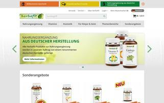 Herbafit Webseiten Screenshot