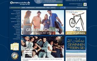 Herrenausstatter Webseiten Screenshot