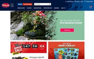 Hervis Webseiten Screenshot