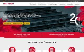 Hetzner Webseiten Screenshot