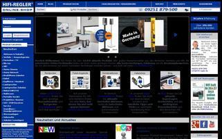HIFI Regler Webseiten Screenshot