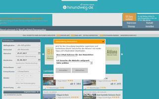 hinundweg Webseiten Screenshot