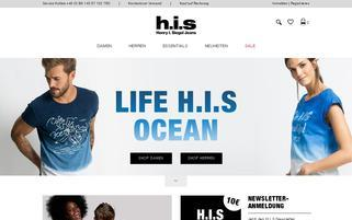 HIS-Jeans Webseiten Screenshot