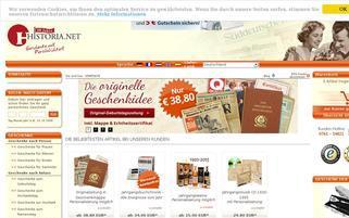 Historia Webseiten Screenshot
