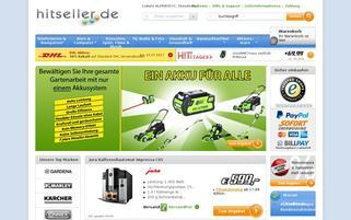 Hitseller Webseiten Screenshot