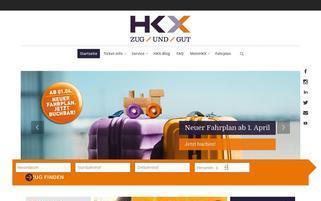 HKX Webseiten Screenshot